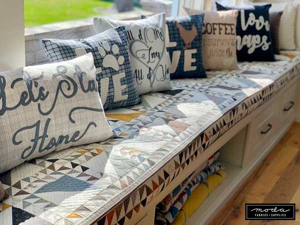 Lisa Bongean Pillows Quilt Bench