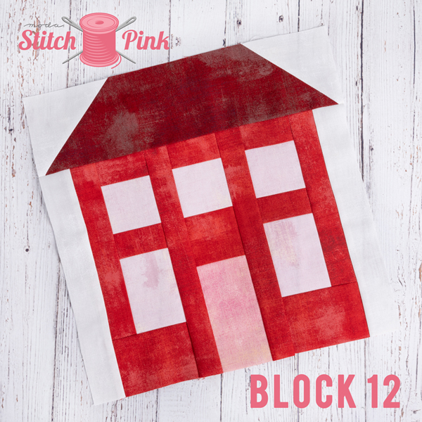 Stitch Pink Block 12 House On The Hill
