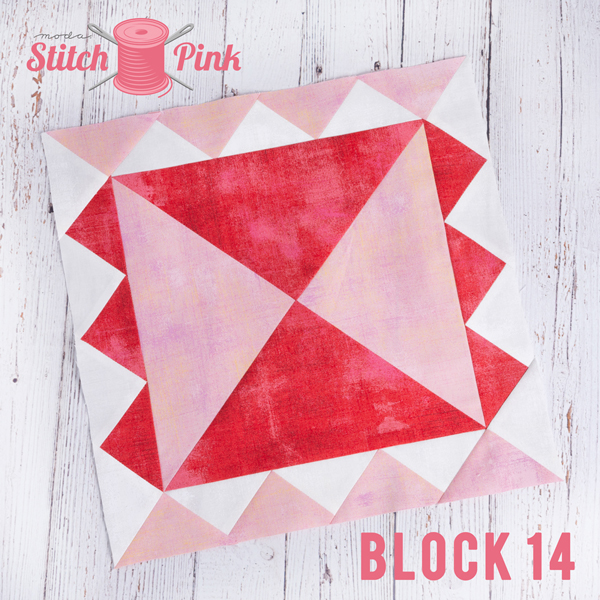 Stitch Pink Block 14 Along Comes Mary