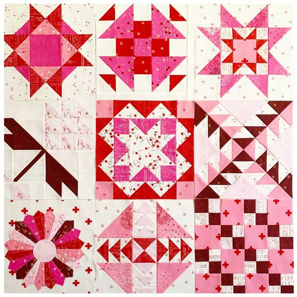 SP Red Velvet Quilts Blocks