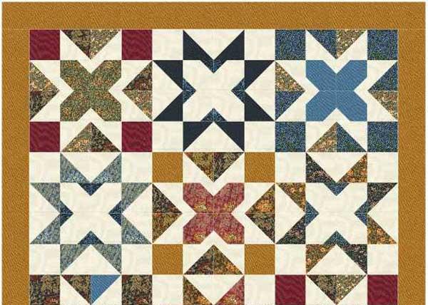 teaser image for Morris Stars Quilt blog post