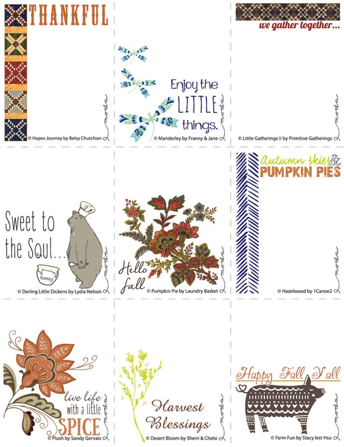 Fall Notes or Quilt Labels