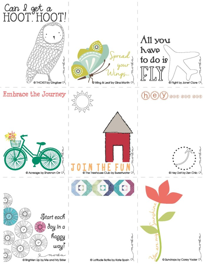 Notes or Quilt Labels
