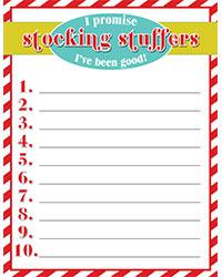 Stocking Stuffers List