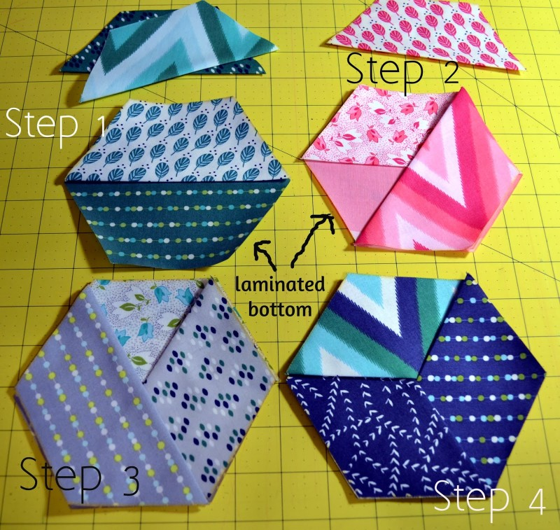Free coaster pattern using precut hexagon Honeycomb