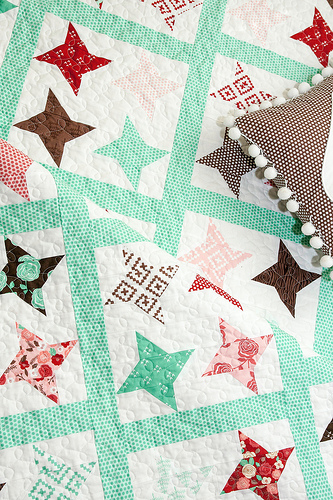 Vanessa's Twinkle quilt pattern featuring Into the Woods