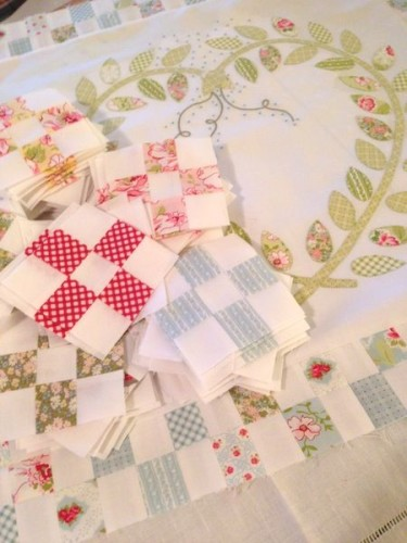 Seedlings quilt - in process