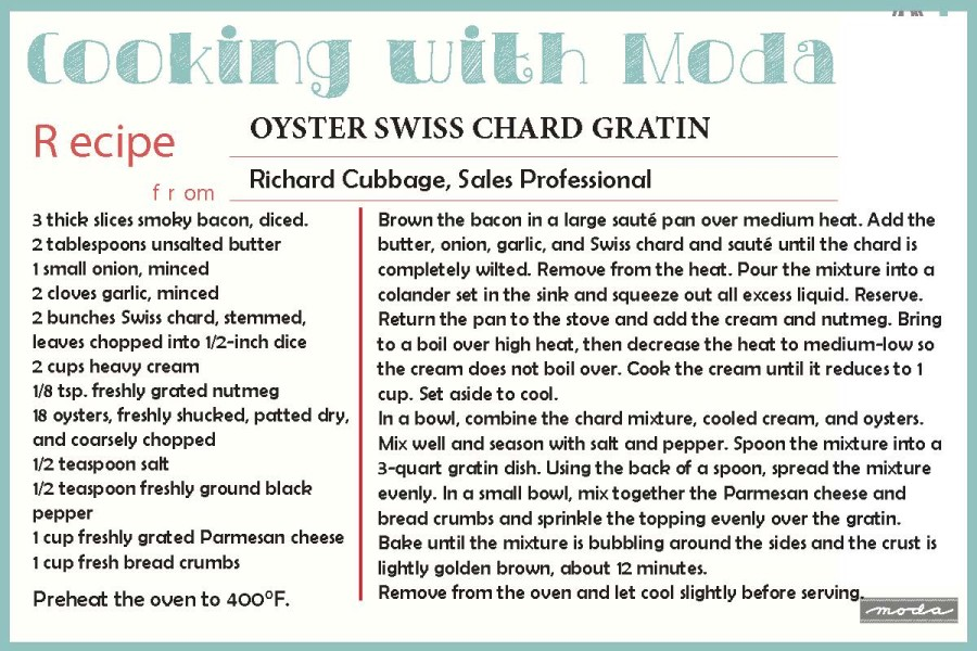 oyster swiss chard
