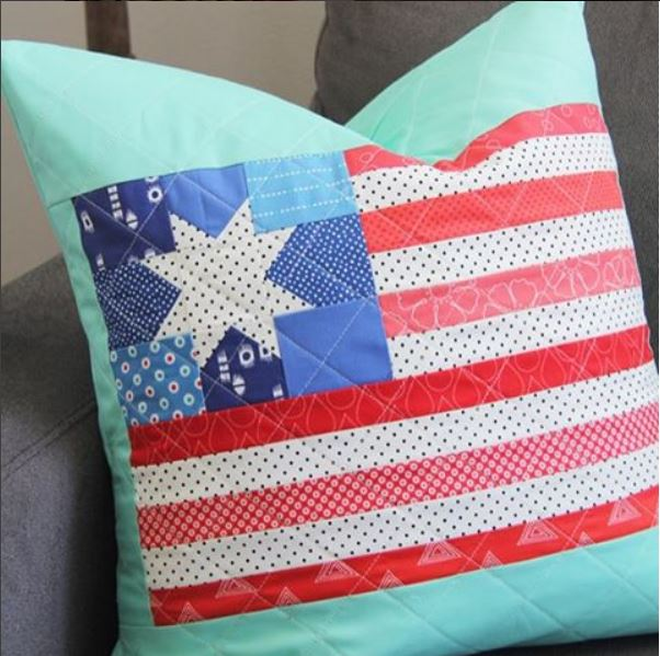 CT Cluck Cluck Sew Flag Pillow